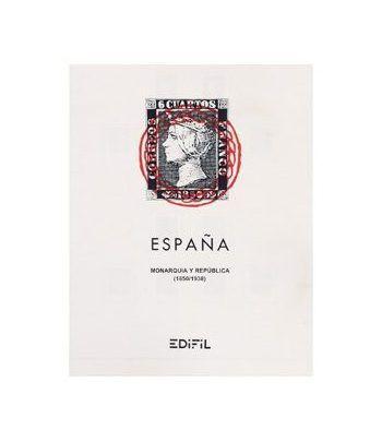 Edifil 'España  1850/38 (montado con estuches) Hojas sellos Edifil - 2