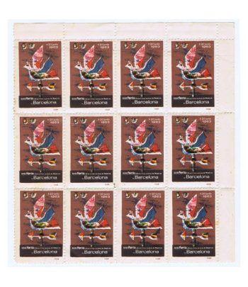 Viñetas Feria Muestras Barcelona 1963. 12 viñetas.  - 2