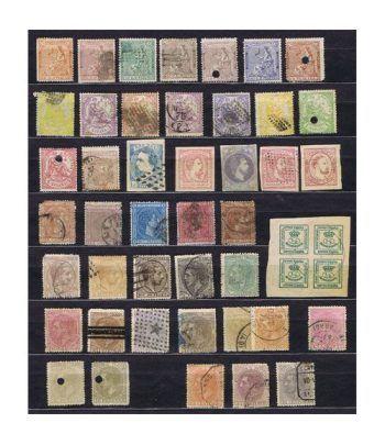 Lote sellos clásicos España entre nº131 y 212. 44 sellos.  - 1