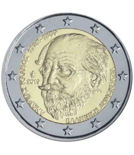 moneda conmemorativa 2 euros Grecia 2019 Kalvos  - 2