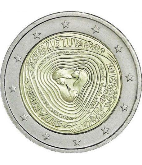 moneda conmemorativa 2 euros Lituania 2019 Sutartines.  - 2
