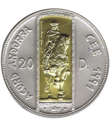 Moneda de plata y oro 20 Diners Andorra 1995.  - 1