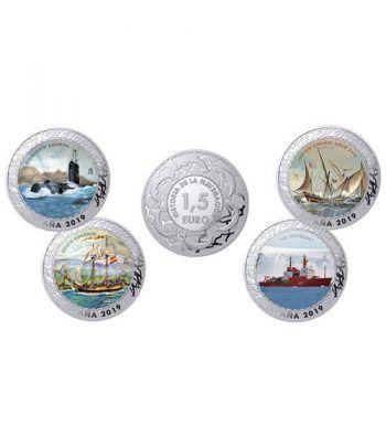 Monedas 2019 Historia de la Navegación V. 4 monedas.  - 1