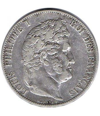 Moneda de plata 5 Francos Francia 1846 A Felipe I.  - 1