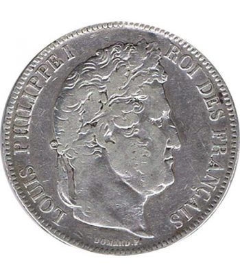 Moneda de plata 5 Francos Francia 1842 BB Felipe I.  - 1