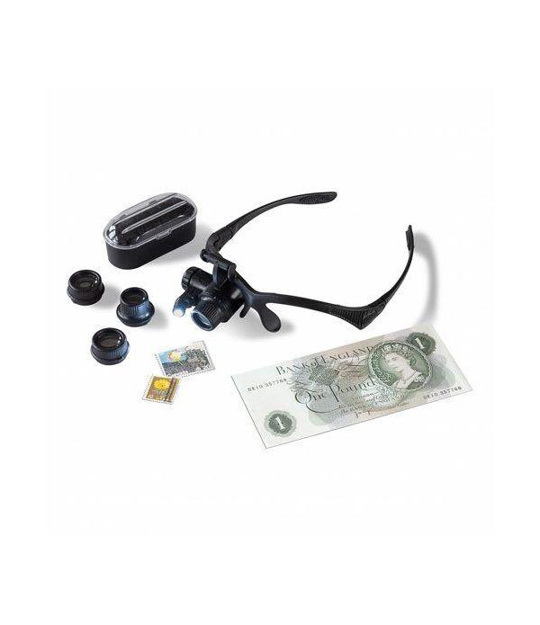 LEUCHTTURM Gafas Lupa MONOKEL. 10 a 25 aumentos y LED. Lupas - 2