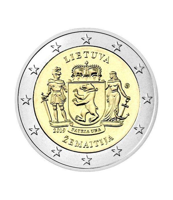 moneda conmemorativa 2 euros Lituania 2019 Samogitia.  - 2