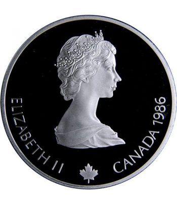 Moneda de plata 20$ Canada 1986. Calgary 1988. Biathlon.  - 4