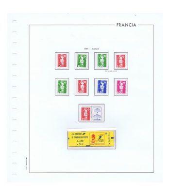 Colección Sellos de Francia 1950/2001 con HB y Carnets.  - 6