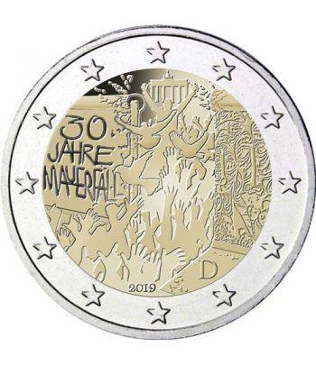 moneda conmemorativa 2 euros Alemania 2019 (5) Muro Berlín  - 2
