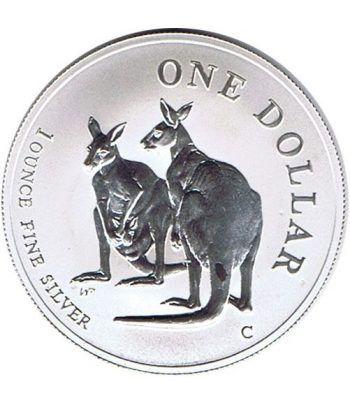 Moneda onza de plata 1$ Australia Canguro 1999  - 1