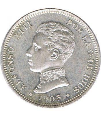 2 Pesetas Plata 1905 *05 Alfonso XIII SM V. SC.  - 2