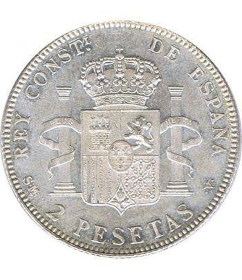 2 Pesetas Plata 1905 *05 Alfonso XIII SM V. SC.  - 4
