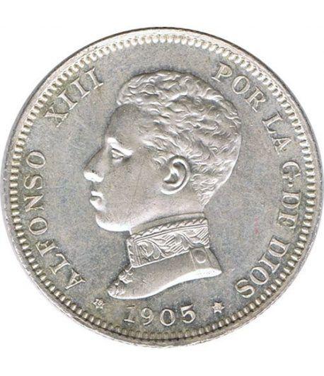 2 Pesetas Plata 1905 *05 Alfonso XIII SM V. SC.  - 1