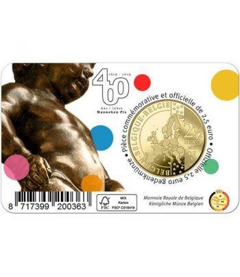 moneda Belgica 2.5 Euros 2019 400 años del Manneken Pis  - 6