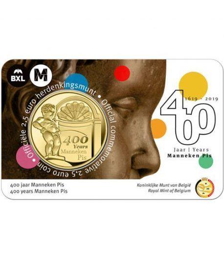 moneda Belgica 2.5 Euros 2019 400 años del Manneken Pis  - 1