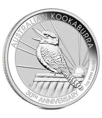 Moneda onza de plata 1$ Australia Kookaburra 2020.  - 2