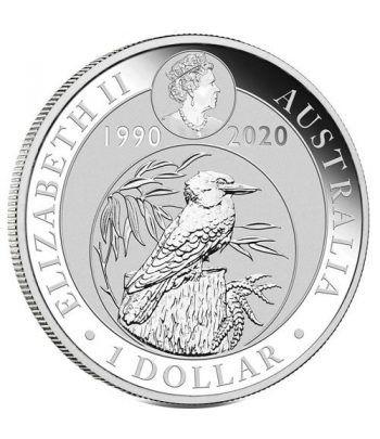 Moneda onza de plata 1$ Australia Kookaburra 2020.  - 4
