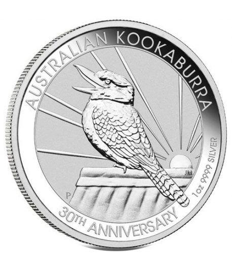 Moneda onza de plata 1$ Australia Kookaburra 2020.  - 1