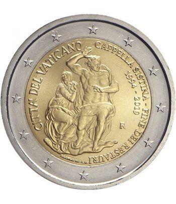 moneda conmemorativa 2 euros Vaticano 2019 Capilla Sixtina  - 1