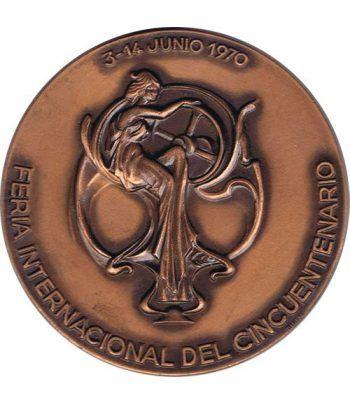 Medalla 50 Anivesario Feria Muestras Barcelona 1920-1970.  - 4
