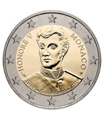 moneda conmemorativa 2 euros Monaco 2019 Honoré V. Proof  - 1