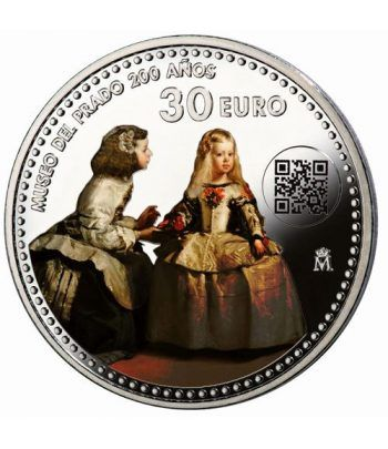 Moneda conmemorativa 30 euros 2019 Museo del Prado Color  - 1