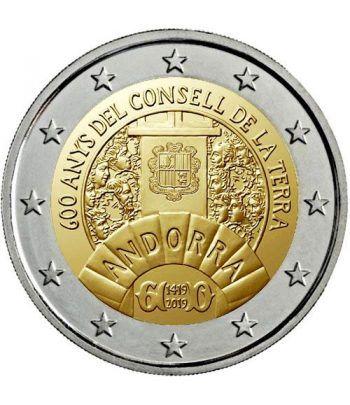 moneda conmemorativa 2 euros Andorra 2019 Consell Terra. BU.  - 1