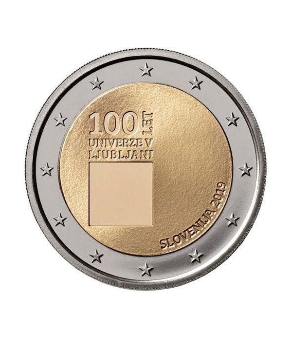 moneda conmemorativa 2 euros Eslovenia 2019 Ljubljana.  - 2