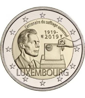 moneda conmemorativa 2 euros Luxemburgo 2019 Sufragio  - 2
