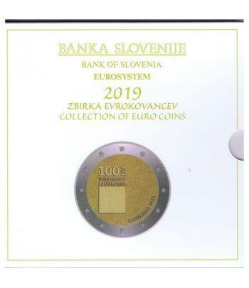 Cartera oficial euroset Eslovenia 2019. Incluye 2 y 3 euros  - 2