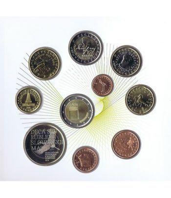 Cartera oficial euroset Eslovenia 2019. Incluye 2 y 3 euros  - 4