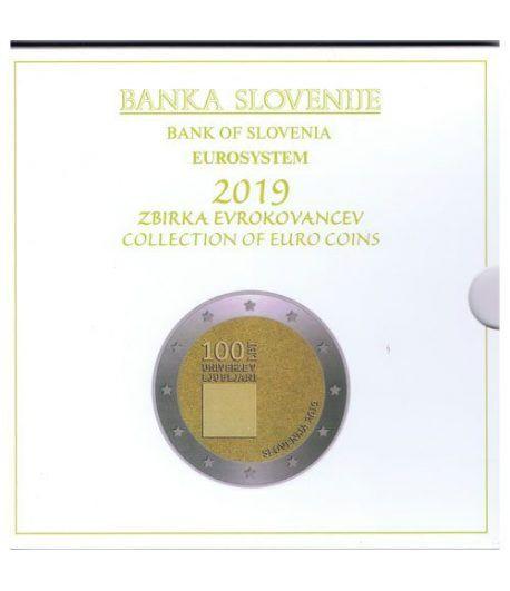 Cartera oficial euroset Eslovenia 2019. Incluye 2 y 3 euros  - 1
