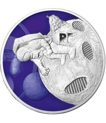 Francia 10 € 2019 Primer Paso sobre la Luna. Plata  - 2