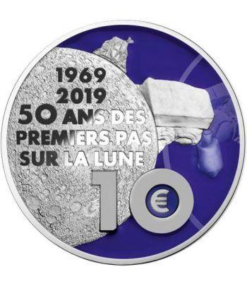 Francia 10 € 2019 Primer Paso sobre la Luna. Plata  - 4