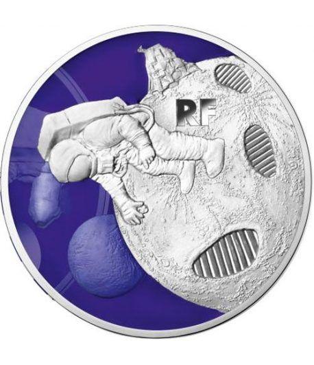 Francia 10 € 2019 Primer Paso sobre la Luna. Plata  - 1