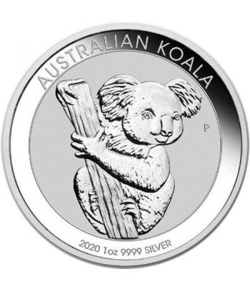 Moneda onza de plata 1$ Australia Koala 2020  - 2