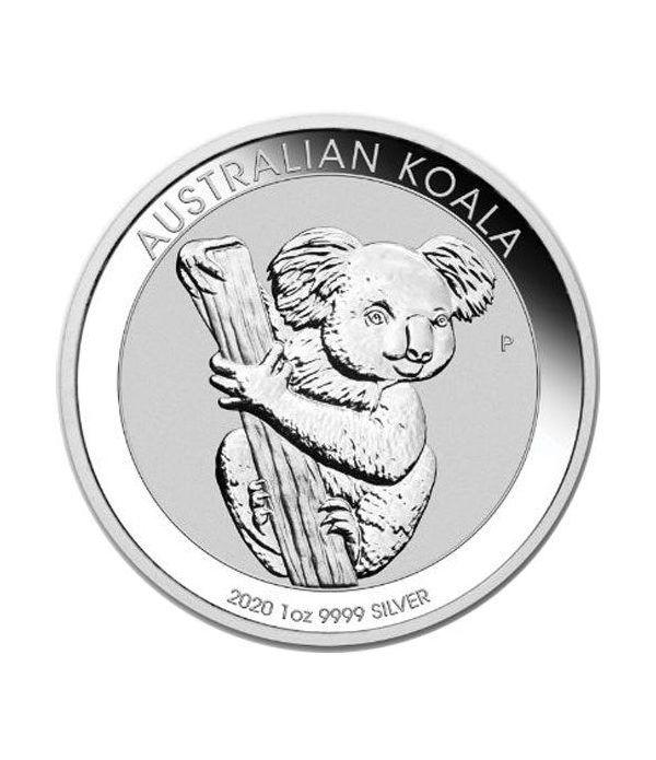 Moneda onza de plata 1$ Australia Koala 2020  - 1