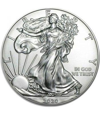 Moneda onza de plata 1$ Estados Unidos Liberty 2020.  - 1