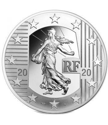 Moneda de plata de Francia año 2020 10 euros La Semeuse.  - 1