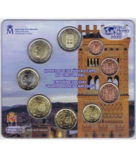Cartera oficial euroset España 2020. Emisión Berlín.  - 1