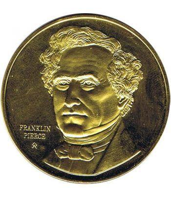 Medalla de plata Franklin Pierce 14º Presidente EEUU  - 1