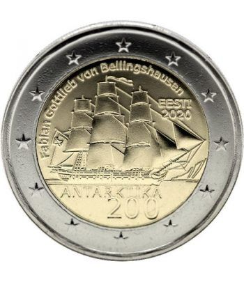 moneda conmemorativa 2 euros Estonia 2020 Antártida.  - 2