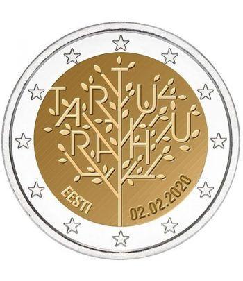 moneda conmemorativa 2 euros Estonia 2020 Tratado Paz Tartu.  - 2