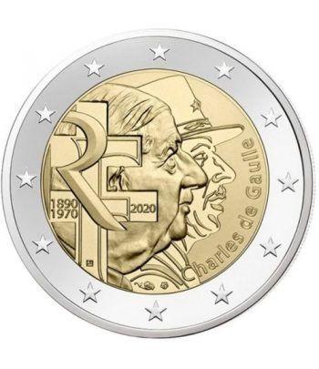 moneda conmemorativa 2 euros Francia 2020 Charles de Gaulle.  - 2