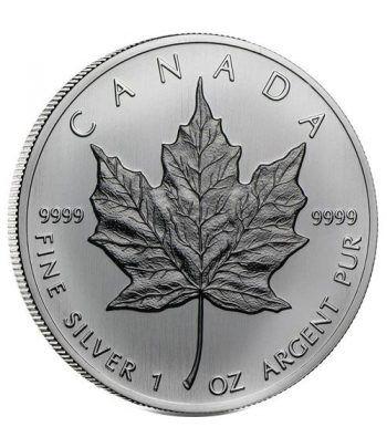 Moneda onza de plata 5$ Canada Hoja de Arce 1988  - 2