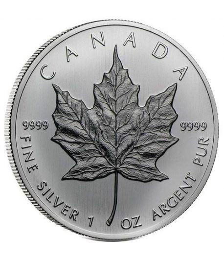 Moneda onza de plata 5$ Canada Hoja de Arce 1988  - 1