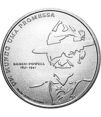 Portugal 5 Euros 2007 Centenario del Escoutismo. Plata  - 1