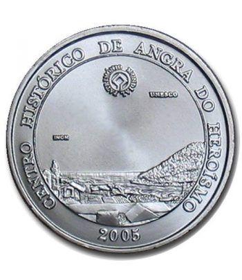 Portugal 5 Euros 2005 Unesco Angra. Plata  - 2
