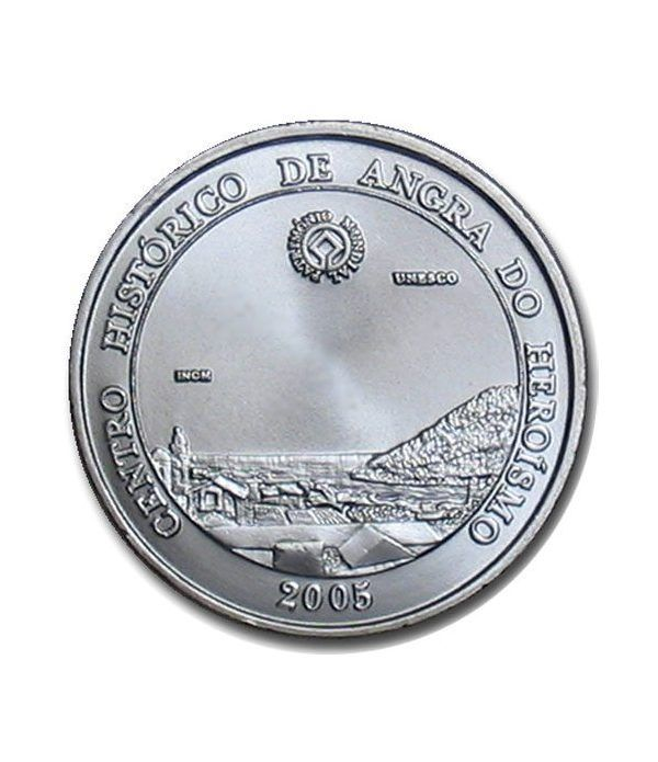 Portugal 5 Euros 2005 Unesco Angra. Plata  - 1
